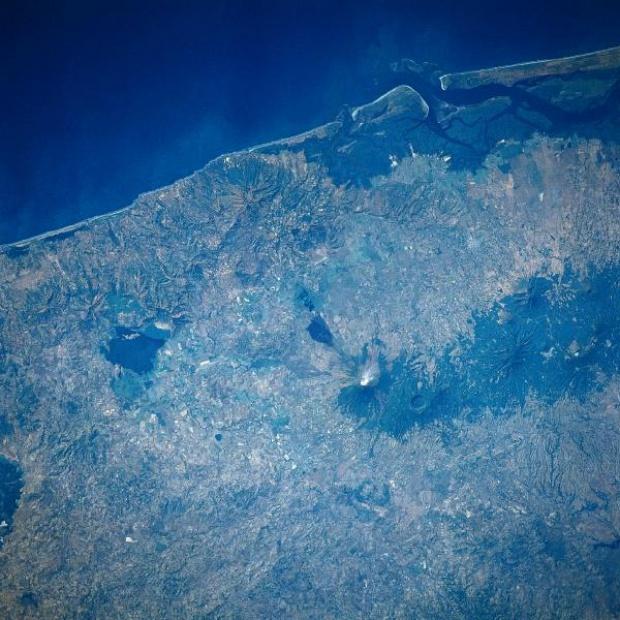 Imagen, Foto Satelite del Volcan San Miguel, El Salvador