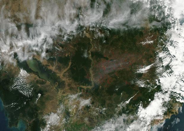 Incendios en Camboya