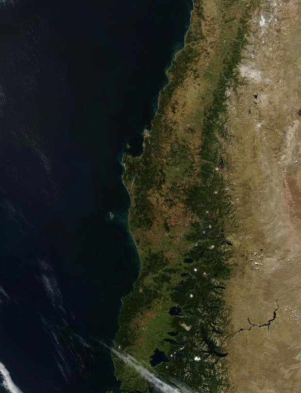 Incendios en Chile central