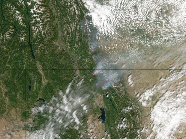 Incendios en el Parque Nacional de los Glaciares, Montana