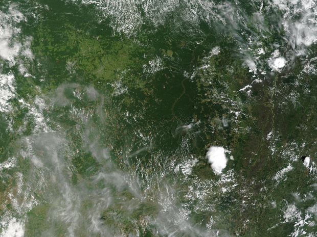 Incendios en el centro-sur de Brasil