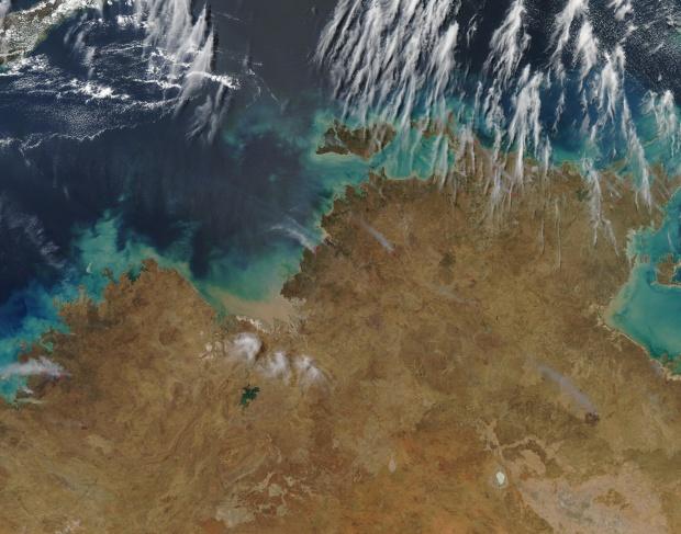 Incendios en el norcentral Australia