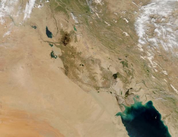 Incendios petroleros en Iraq