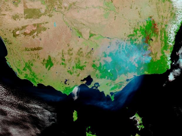 Incendios y cicatrices de los Incendios en el sureste de Australia