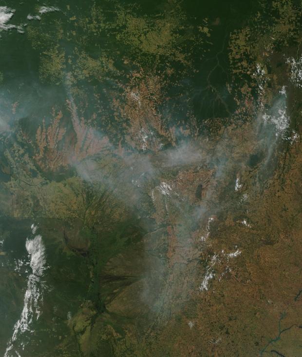 Incendios y humo en Brasil