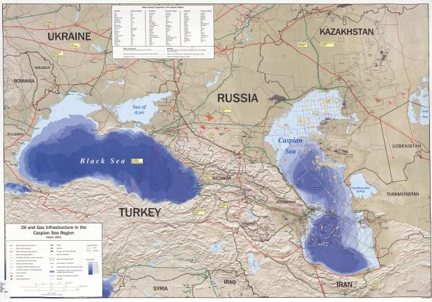 Infraestructuras Petroleras y Gasíferas en la Región del Mar Caspio y del Mar Negro