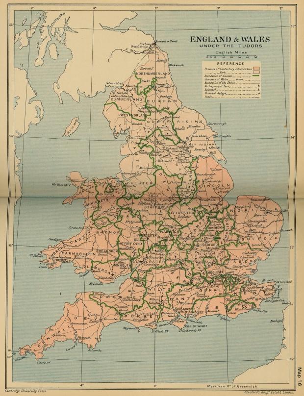 Inglaterra y del País de Gales Bajo la Casa de Tudor 1485  - 1603
