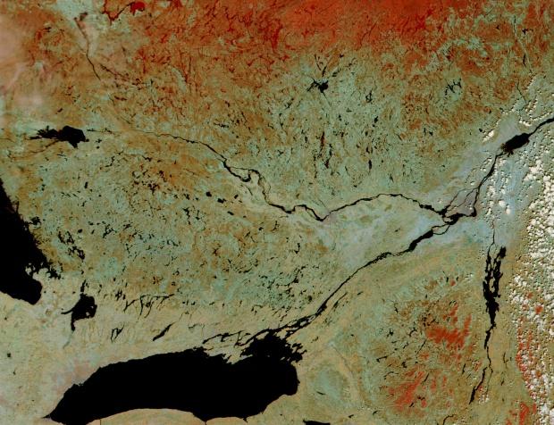 Inundaciones a lo largo del río Ottawa, Canadá