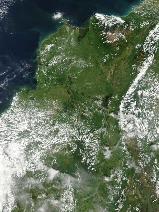 Inundaciones en el norte de Colombia