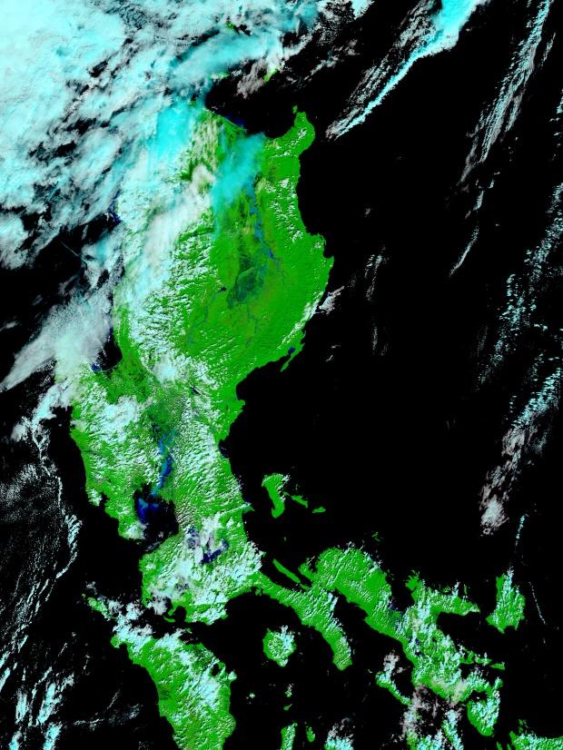 Inundaciones en las Filipinas (falso color)