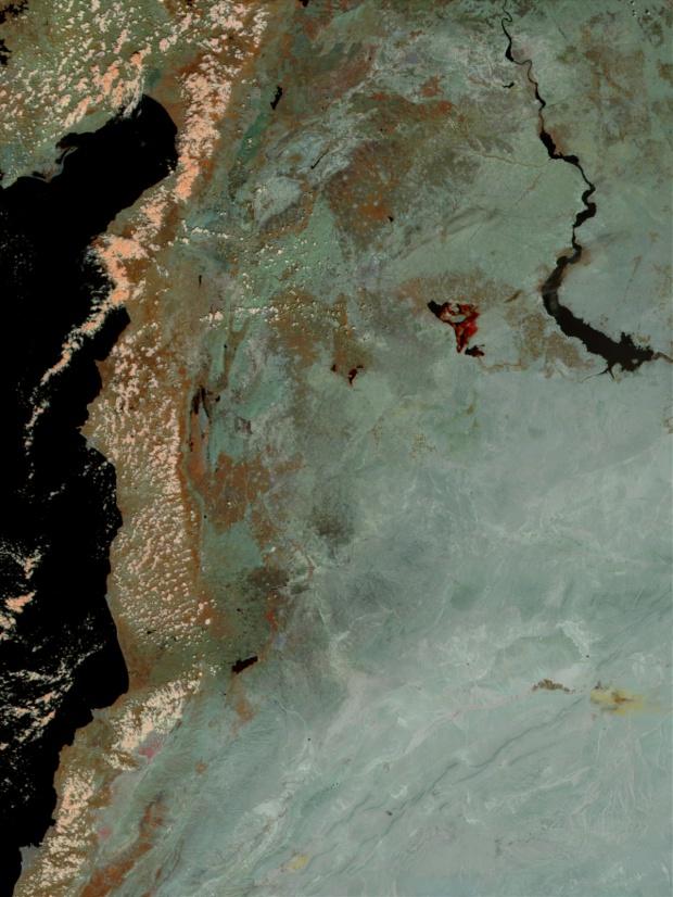 Inundaciones resultantes después del colapso de la presa de Zeyzoun, Syria