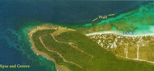 Isla Roatan Vista Aerea, Punta Oeste de la Isla, Honduras