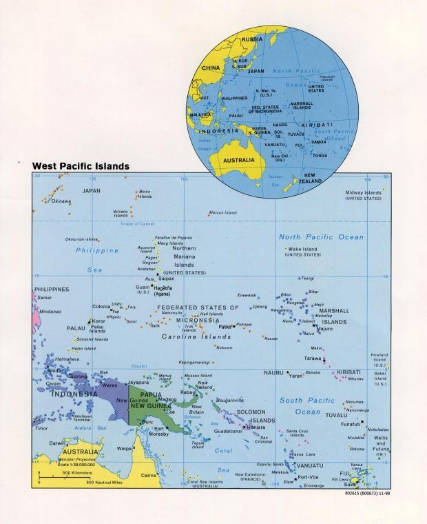 Islas del Pacífico Occidental 1998