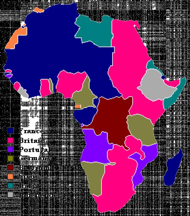 La Expansion Colonial Europea en África 1913