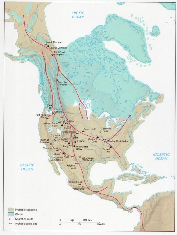 La llegada del hombre a América 8000 aC
