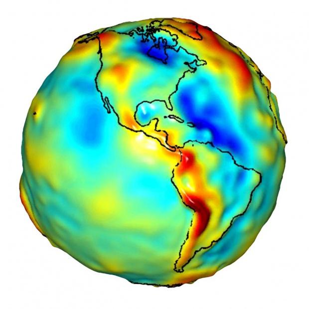 Las anomalías gravitatorias de América del Sur y América del Norte