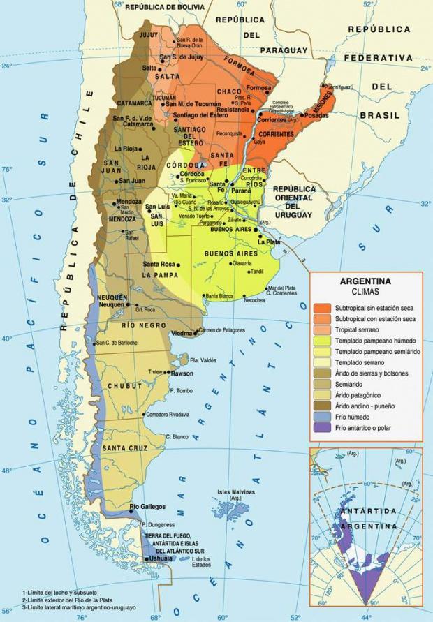 Mapas Tematicos De Argentina