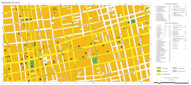 Mapa Durango (Centro Ciudad), Durango, Mexico