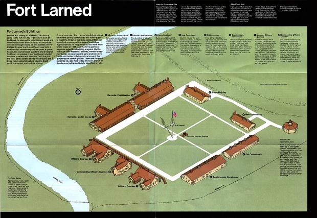 Mapa-Esquema del Sitio Histórico Nacional Fort Larned, Kansas, Estados Unidos