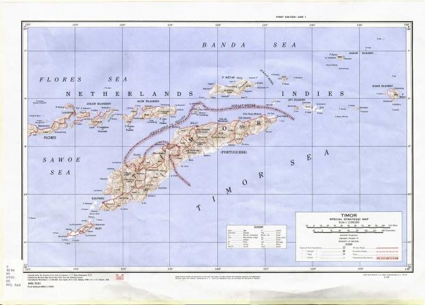 Mapa Estratégico Especial de Timor 1943