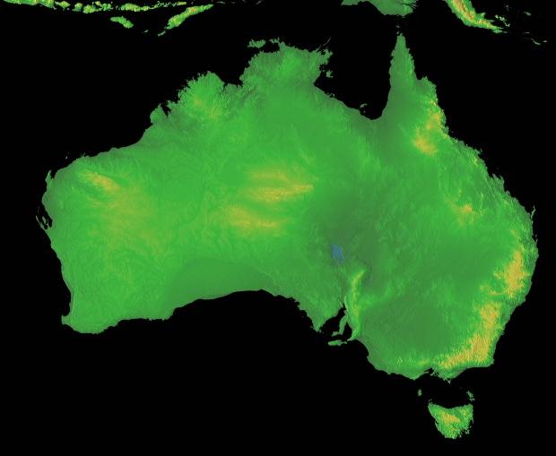 Mapa Físico de Australia