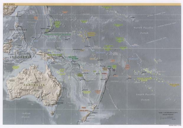 Mapa Físico de Oceanía 1999