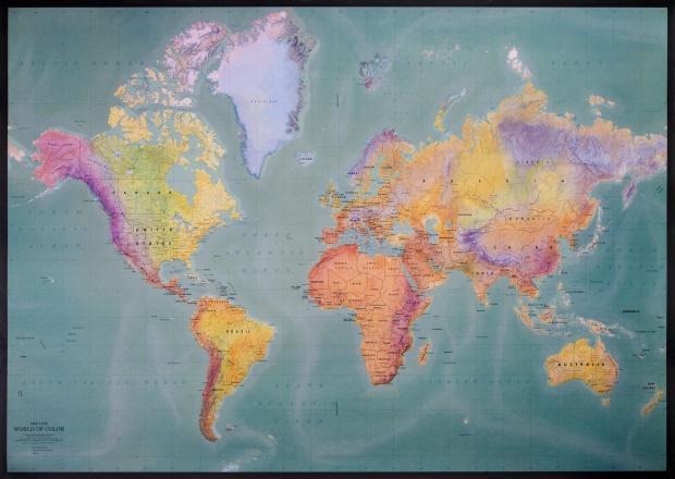 Mapa Físico del Mundo