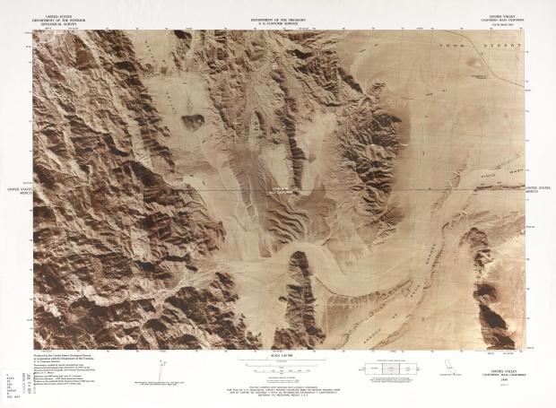 Mapa Fronterizo de México-Estados Unidos, Davies Valley 1979