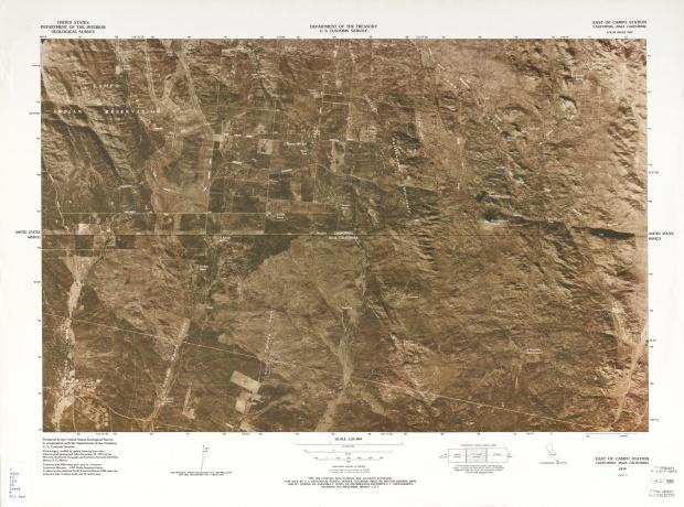 Mapa Fronterizo de México-Estados Unidos, Este de Campo Station 1979