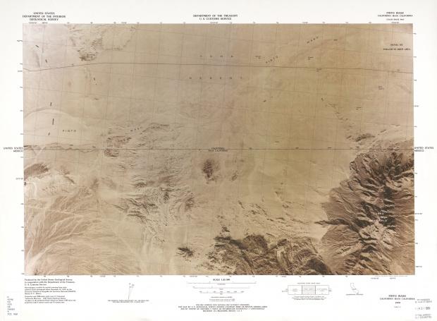 Mapa Fronterizo de México-Estados Unidos, Pinto Wash 1979