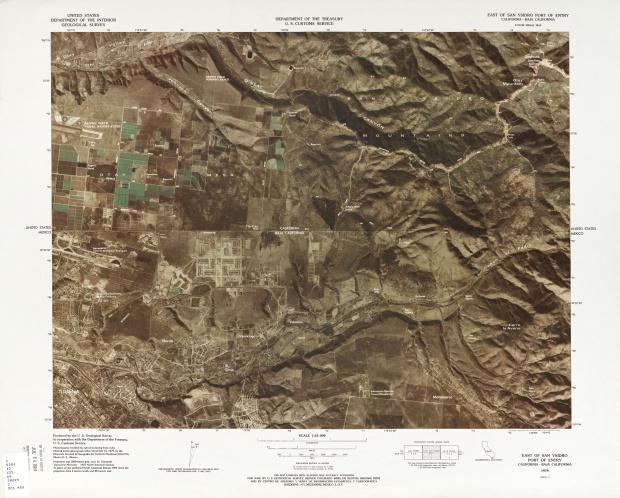 Mapa Fronterizo de México-Estados Unidos, Puerto de Entrada Este de San Ysidro 1979