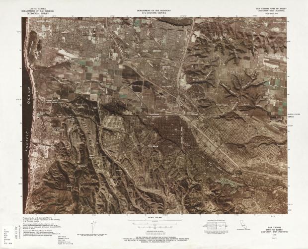Mapa Fronterizo de México-Estados Unidos, Puerto de Entrada San Ysidro 1979