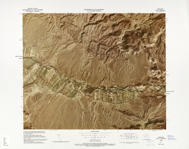 Mapa Fronterizo de México-Estados Unidos, Redford 1983