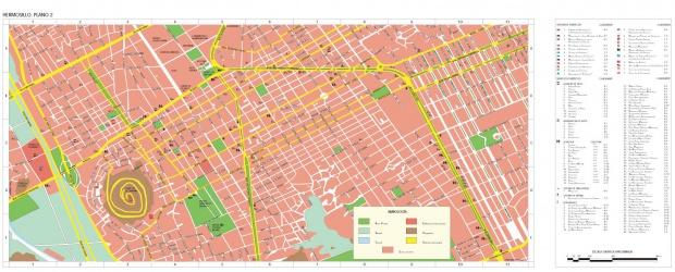 Mapa Hermosillo (Centro), Sonora, Mexico