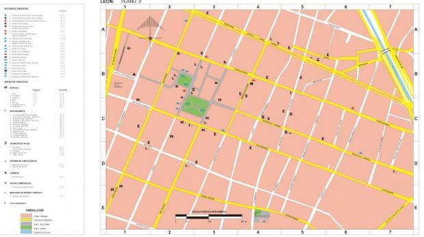 Mapa León (2), Guanajuato, Mexico