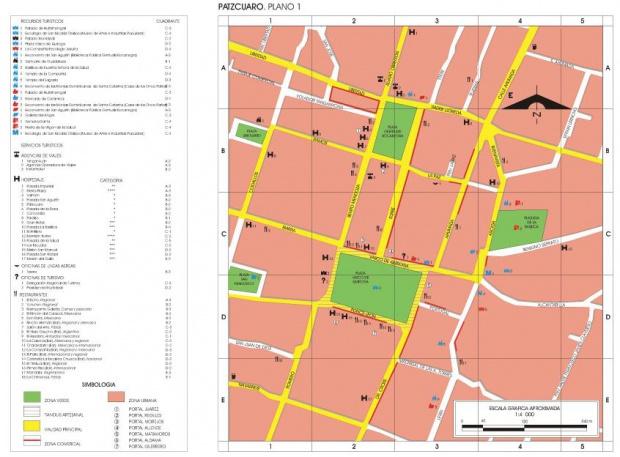 Mapa Pátzcuaro, Michoacán de Ocampo, Mexico