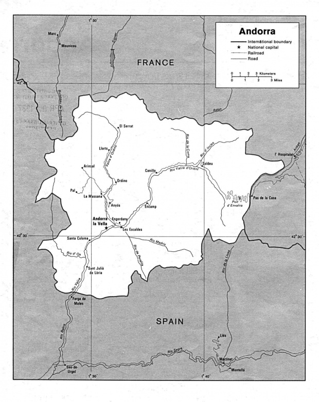 Mapa Politico de Andorra