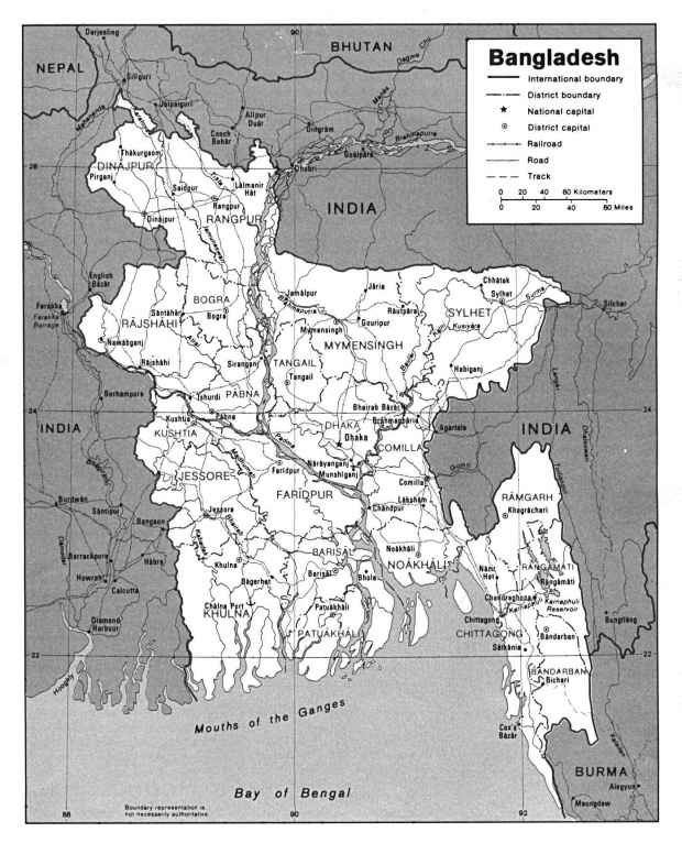 Mapa Politico de Bangladesh