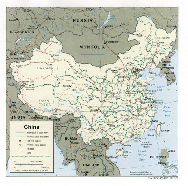 Mapa Politico de China