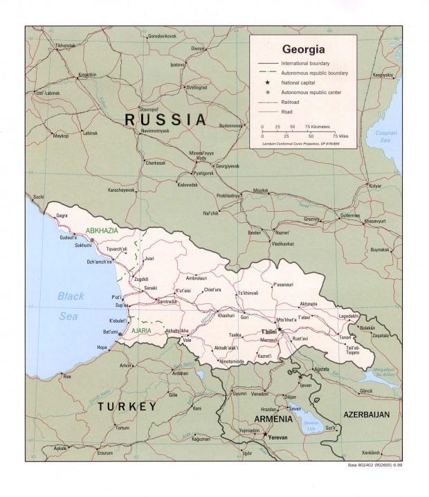Mapa Politico de Georgia