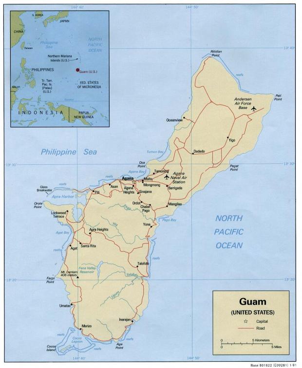 Mapa Politico de Guam