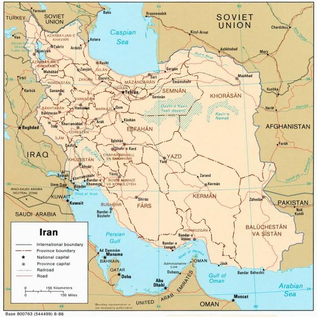 Mapa Politico de Irán