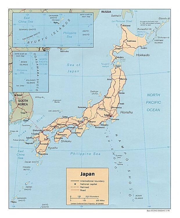 Mapa Politico de Japón