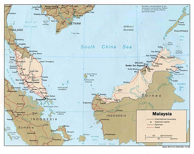 Mapa Politico de Malasia