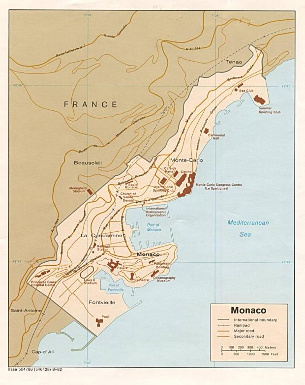 Mapa Politico de Mónaco