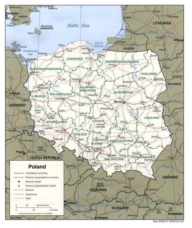 Mapa Politico de Polonia