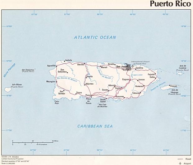Mapa Político de Puerto Rico