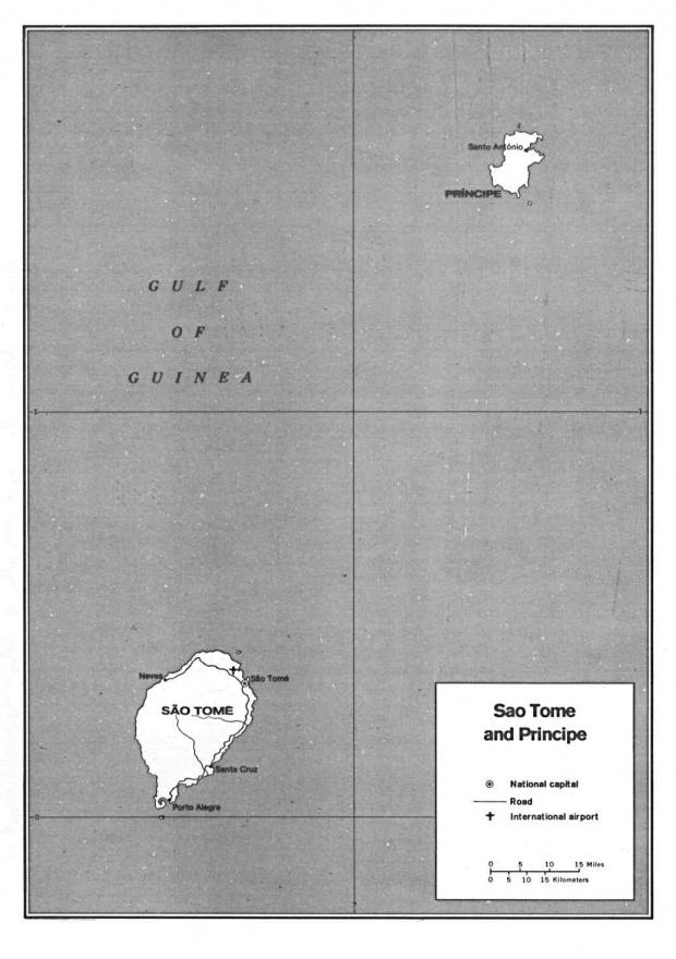 Mapa Politico de Santo Tomé y Príncipe