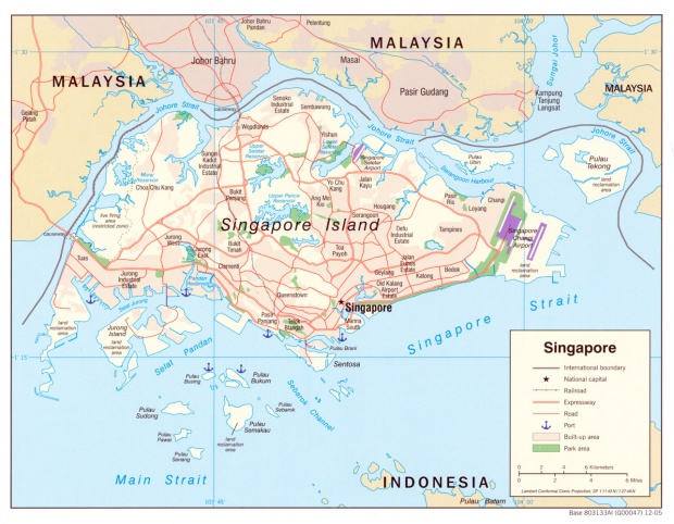 Mapa Politico de Singapur