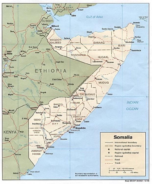 Mapa Politico de Somalia